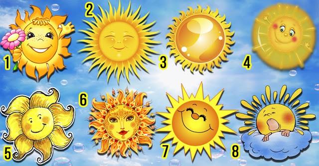 Самый солнечный тест: Выберите солнышко и узнайте о себе что-то интересное...