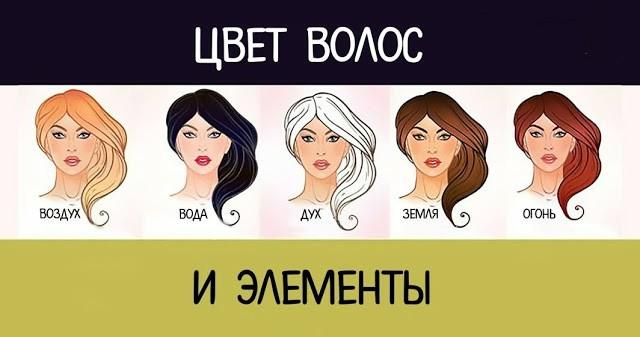 Цвет волос и элементы