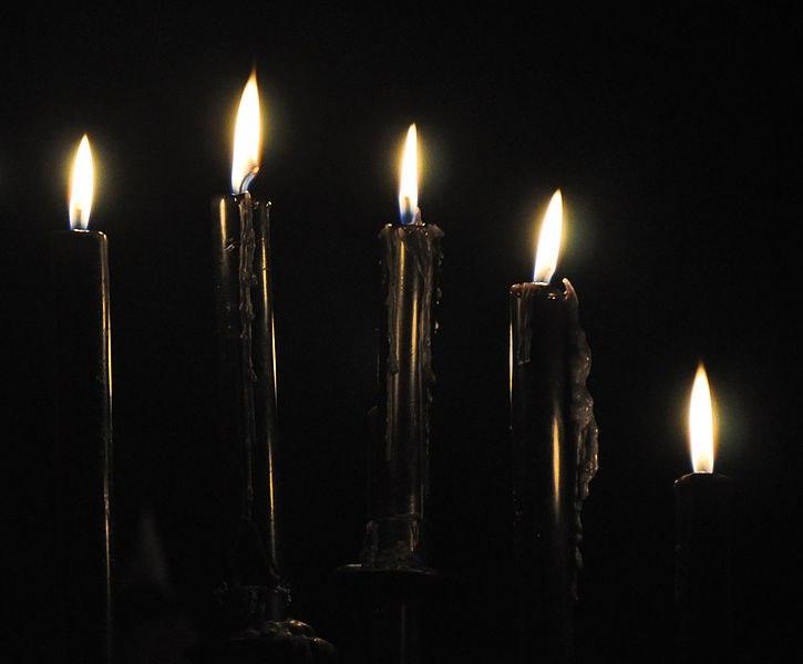 Как сделать свечу черную