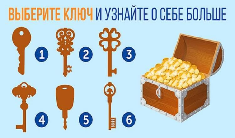 Тест: Выбери ключ и читай отгадку!