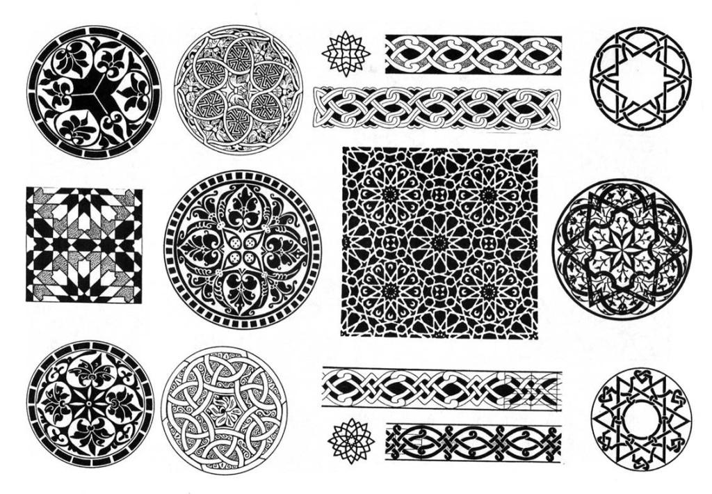 Практика применения кельтских узоров в виде узлов