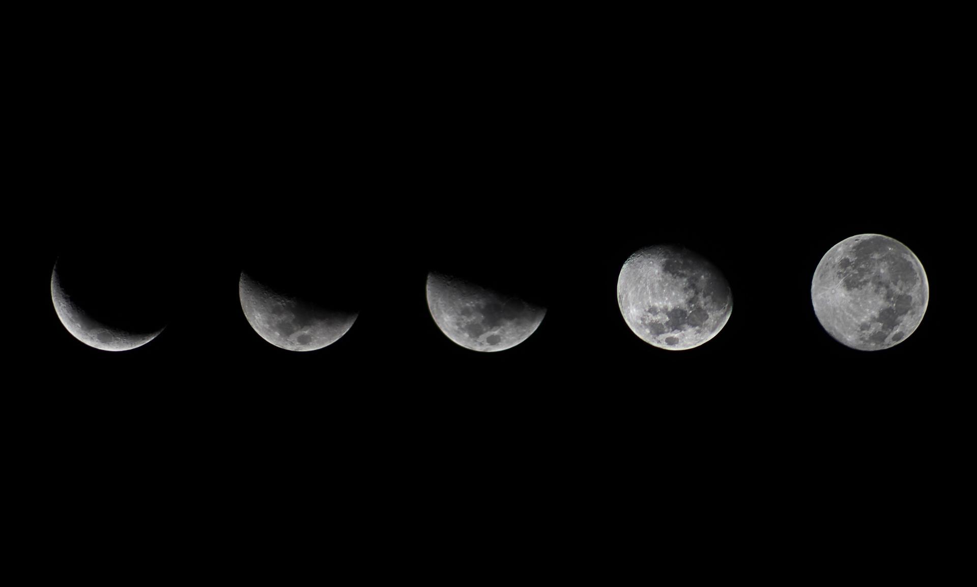 картинка новолуние рост луны этом